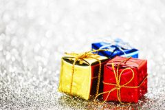 Decorated holiday gifts Royalty Free Stock Images