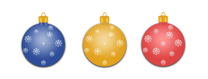Decorated Holiday Ornaments Royalty Free Stock Photography
