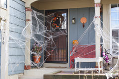 Decorated Holloween house Royalty Free Stock Photography