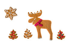 Decorated homemade gingerbread Royalty Free Stock Image