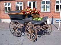 Decorated horse carriage Stock Photos