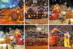 Decorated house. With christmas lights Royalty Free Stock Photography