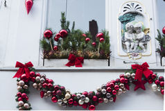 Decorated house at Christmas time Stock Image
