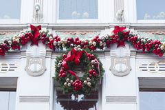 Decorated house at Christmas time Royalty Free Stock Photos