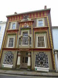 Decorated house in England. An Egyptian themed house in the town of Penzance in Cornwall, England Royalty Free Stock Photo