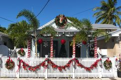 Decorated House in Key West stock image
