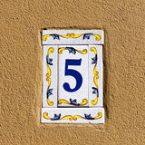 Decorated house number royalty free stock images