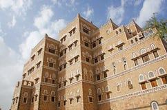 Decorated house, palace, Sana'a, Yemen Royalty Free Stock Images