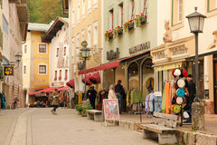 Decorated houses in the old town. Berchtesgaden.Germany Royalty Free Stock Images