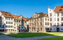 Decorated Houses in the streets of St.Gallen Stock Photos
