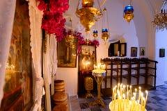 Decorated iconostasis of Panagia Stratolatissa Stock Photography