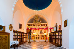 Decorated iconostasis of Panagia Stratolatissa Royalty Free Stock Photography