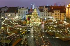 Christmas Market in Tallinn, Estonia stock image