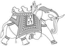 Decorated Indian elephant Royalty Free Stock Image