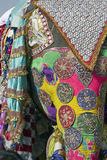 Decorated Indian Elephant. Decorated elephant at the annual elephant festival in Jaipur, India Stock Photo