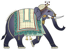 Decorated Indian elephant Stock Photo