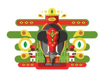 Decorated Indian elephant Royalty Free Stock Photo