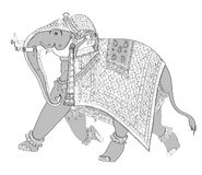 Decorated indian elephant Royalty Free Stock Images