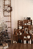 Decorated interior with Christmas tree and details Royalty Free Stock Photo