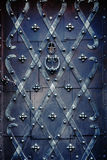 Decorated iron door Stock Photos
