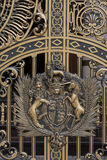 Decorated iron door detail Royalty Free Stock Photography