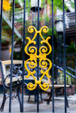 Decorated iron security gate Stock Images