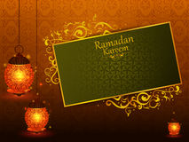 Decorated Islamic Arabic floral design for Ramadan Kareem background on Happy Eid festival. In vector Stock Images