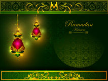 Decorated Islamic Arabic floral design for Ramadan Kareem background on Happy Eid festival Royalty Free Stock Photo