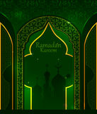 Decorated Islamic Arabic floral design for Ramadan Kareem background on Happy Eid festival Stock Photography