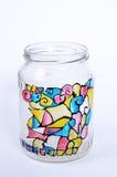 Decorated  jar Royalty Free Stock Photo