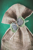 Decorated jute sack Royalty Free Stock Images