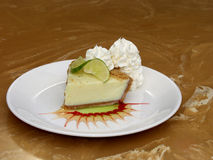Decorated Key Lime Pie on a Plate Stock Photos