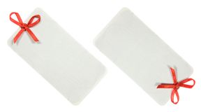 Decorated Label Set. Isolated on white Background stock image