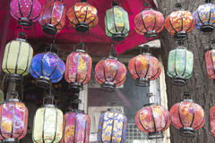 Decorated lanterns in China Royalty Free Stock Photo
