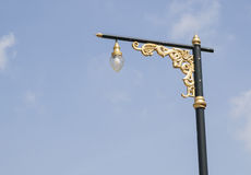 Decorated light pole Royalty Free Stock Images