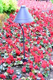 Decorated light post Stock Images