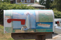 Decorated Mailbox in Peaks Island Royalty Free Stock Photo