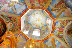 Decorated main cupola Stock Images