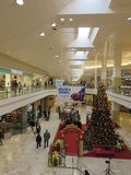 Decorated mall. Mall is ready for christmas sale stock photos