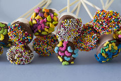 Decorated Marshmallows on Table Royalty Free Stock Images