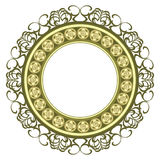 Decorated medallion frame Royalty Free Stock Photos