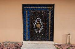 Decorated metallic door in Al-Ula, Saudi Arabia Royalty Free Stock Photo