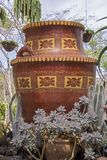 Decorated Mexican clay pot Stock Photo