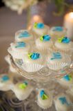 Decorated miniature cupcakes Stock Photo