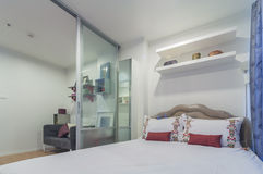 Decorated modern style, condominium studio type. Decorated modern style, luxury condominium studio type royalty free stock photography