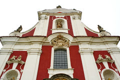 Decorated monastry gable. Decorated monastery wall and gable royalty free stock photo