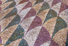 Decorated mosaic floor in the roman Caracalla Thermae Baths in R. Ome, Italy Stock Images