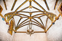 Decorated mudejar ceiling of  La Casa De Pilatos, Seville , Spai Royalty Free Stock Photography