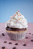 Decorated muffin with colofrul sprinkles Stock Image
