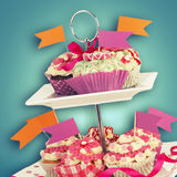 Decorated muffins Royalty Free Stock Images